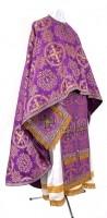 Греческое иерейское облачение из шёлка Ш4 (фиолетовый/золото)