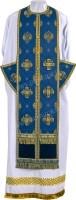 Требный комплект из парчи П (синий/золото)