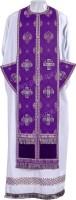 Требный комплект из парчи П (фиолетовый/серебро)