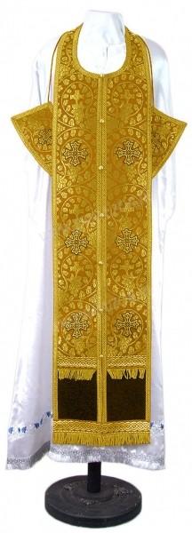 Требный комплект из парчи ПГ1 (жёлтый-бордо/золото)