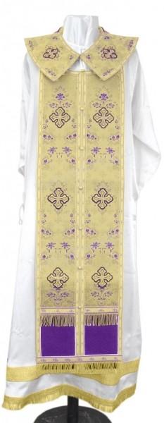 Требный комплект из парчи ПГ1 (фиолетовый/золото)