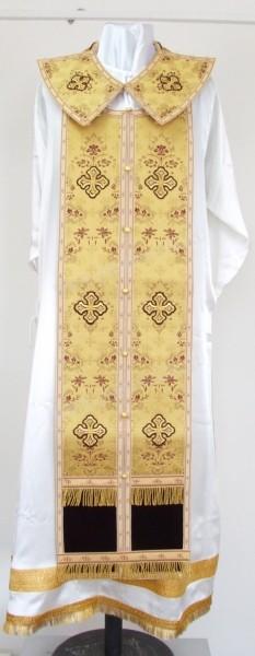 Требный комплект из парчи ПГ2 (жёлтый-бордо/золото)