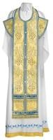 Требный комплект из парчи ПГ3 (синий/золото)