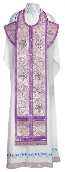 Требный комплект из парчи ПГ3 (фиолетовый/серебро)