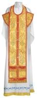 Требный комплект из парчи ПГ3 (красный/золото)