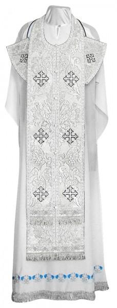 Требный комплект из парчи ПГ3 (белый/серебро)
