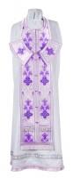 Требный комплект из парчи ПГ4 (фиолетовый/серебро)