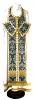 Требный комплект из парчи ПГ5 (синий/золото)