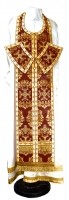 Требный комплект из парчи ПГ5 (бордовый/золото)