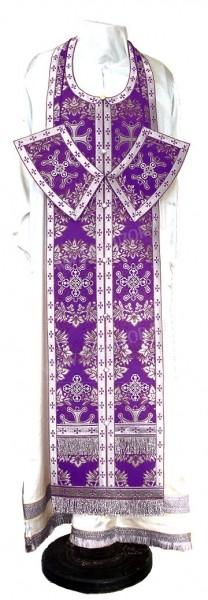 Требный комплект из парчи ПГ5 (фиолетовый/серебро)