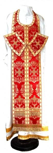 Требный комплект из парчи ПГ5 (красный/золото)