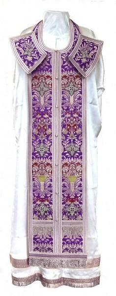 Требный комплект из парчи ПГ6 (фиолетовый/серебро)