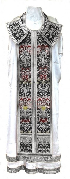 Требный комплект из парчи ПГ6 (чёрный/серебро)