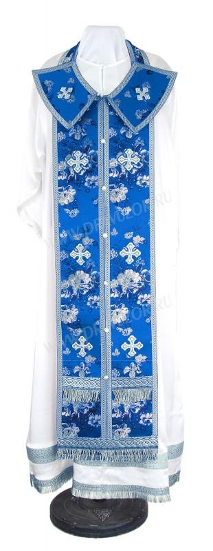 Требный комплект из кит. шёлка ШК (синий/серебро)