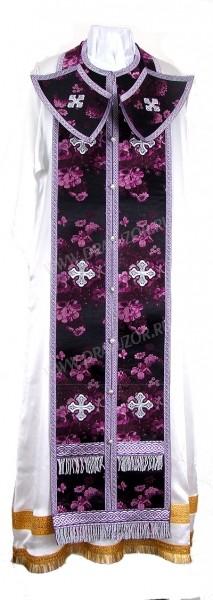 Требный комплект из кит. шёлка ШК (фиолетовый/серебро)