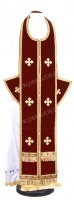 Требный комплект из нем. бархата (бордовый/золото)