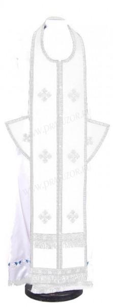 Требный комплект из нем. бархата (белый/серебро)