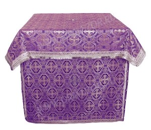 Облачение на престол из шёлка Ш3 (фиолетовый/серебро)