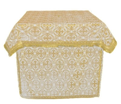Облачение на жертвенник из парчи П (белый/золото)