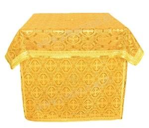 Облачение на жертвенник из шёлка Ш3 (жёлтый/золото)