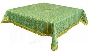 Пелена на престол/жертвенник из парчи П (зелёный/золото)