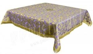 Пелена на престол/жертвенник из парчи П (фиолетовый/золото)