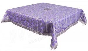 Пелена на престол/жертвенник из парчи П (фиолетовый/серебро)
