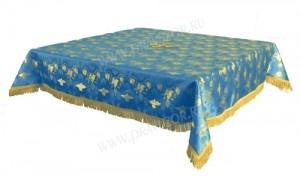 Пелена на престол/жертвенник из парчи ПГ1 (синий/золото)