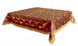 Пелена на престол/жертвенник из парчи ПГ1 (бордовый/золото)