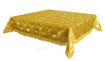 Пелена на престол/жертвенник из парчи ПГ1 (жёлтый/золото)