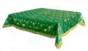 Пелена на престол/жертвенник из парчи ПГ1 (зелёный/золото)