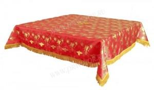 Пелена на престол/жертвенник из парчи ПГ1 (красный/золото)