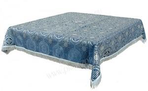 Пелена на престол/жертвенник из парчи ПГ2 (синий/серебро)