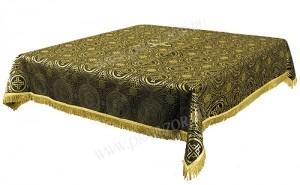 Пелена на престол/жертвенник из парчи ПГ2 (чёрный/золото)