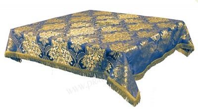 Пелена на престол/жертвенник из парчи ПГ3 (синий/золото)