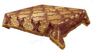 Пелена на престол/жертвенник из парчи ПГ3 (бордовый/золото)