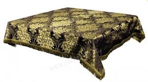 Пелена на престол/жертвенник из парчи ПГ3 (чёрный/золото)