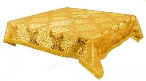 Пелена на престол/жертвенник из парчи ПГ3 (жёлтый/золото)
