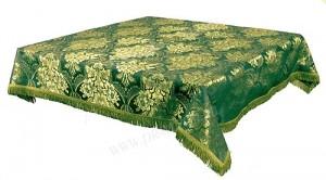 Пелена на престол/жертвенник из парчи ПГ3 (зелёный/золото)