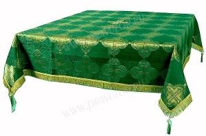 Пелена на престол/жертвенник из парчи ПГ4 (зелёный/золото)