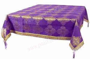 Пелена на престол/жертвенник из парчи ПГ4 (фиолетовый/золото)