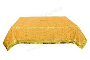 Пелена на престол/жертвенник из шёлка Ш2 (жёлтый/золото)