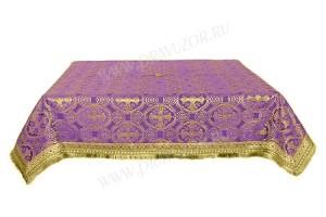 Пелена на престол/жертвенник из шёлка Ш2 (фиолетовый/золото)