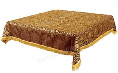 Пелена на престол/жертвенник из шёлка Ш3 (бордовый/золото)