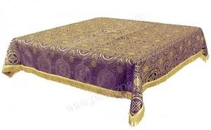 Пелена на престол/жертвенник из шёлка Ш3 (фиолетовый/золото)
