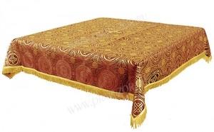 Пелена на престол/жертвенник из шёлка Ш3 (красный/золото)