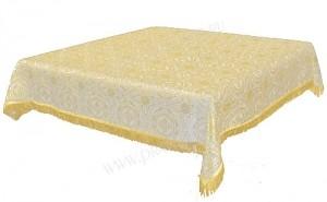 Пелена на престол/жертвенник из шёлка Ш3 (белый/золото)