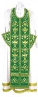 """Вышитый требный комплект """"Византийский орёл"""" (зелёный/золото)"""