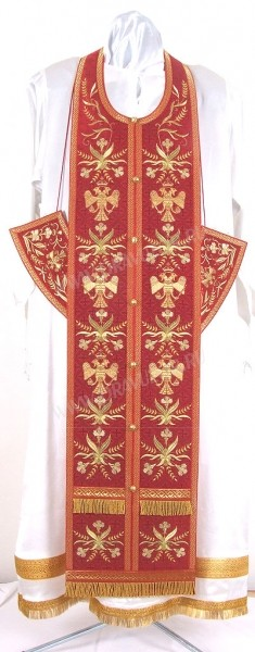"""Вышитый требный комплект """"Византийский орёл"""" (красный/золото)"""