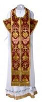 Требный комплект из шёлка Ш2 (бордовый/золото)